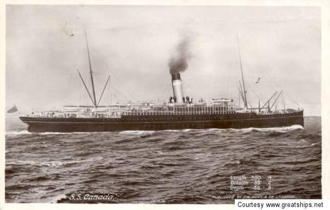 Image of ss Canada (Dominion Line)