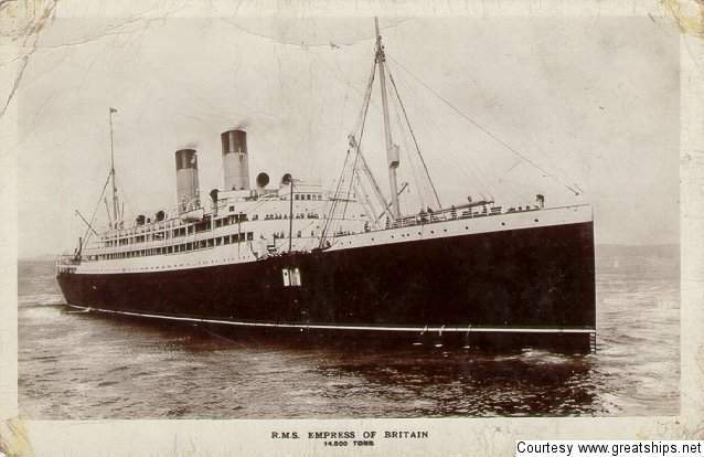 Image of ss Empres of Britain (Canadian-Pacific Railway Company)