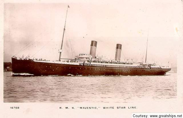 Image of ss Majestic (White Star Line)